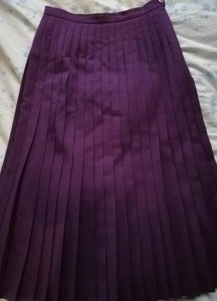 Country casuals миди макси 100% шерсть юбка плиссе.