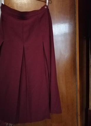 Planet миди макси юбка 45%шерсть,складки.