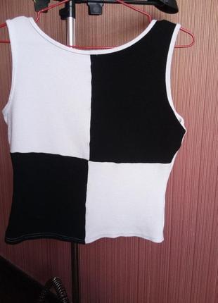 Стильный топ чёрно-белого цвета бренд elam