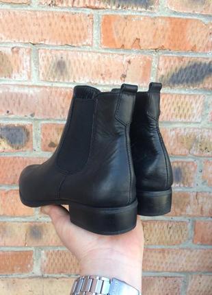 Ботинки кожаные, челси tamaris размер 40 (25,5 см.)5 фото