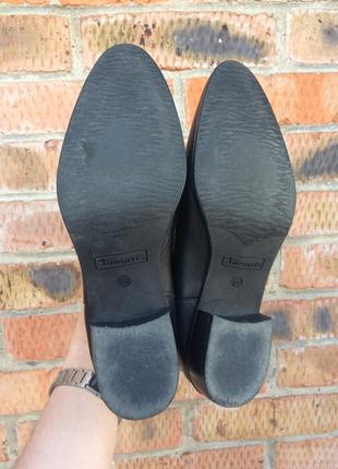 Ботинки кожаные, челси tamaris размер 40 (25,5 см.)6 фото