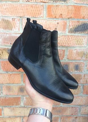 Ботинки кожаные, челси tamaris размер 40 (25,5 см.)2 фото