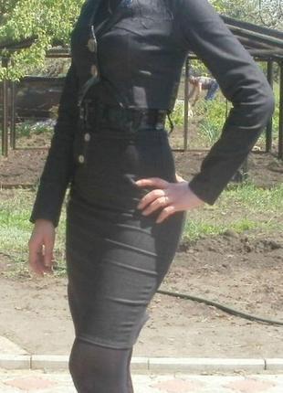 Офисный костюм серого цвета