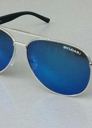 Bvlgari очки капли мужские солнцезащитные зеркальные сине