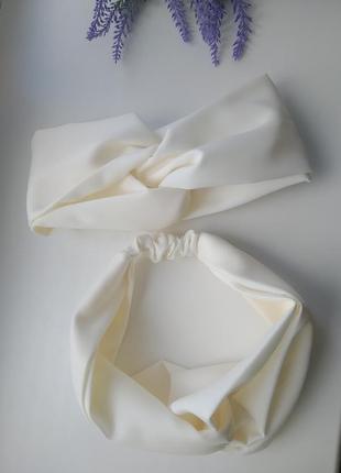 Трендовая молочная чалма вискоза хлопок повязка на голову тюрбан аксессуары для волос