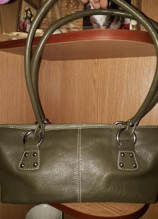 Аккуратная сумка / кожаная повседневная сумочка на плечо