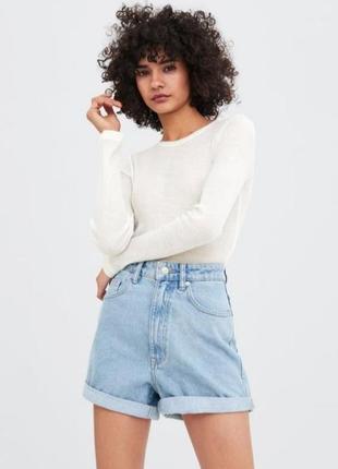Шорты джинсовые zara mom fit 32 размер