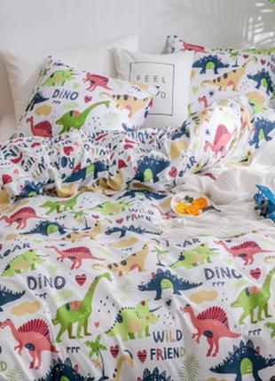Постельное полуторное динозавры динозаврики