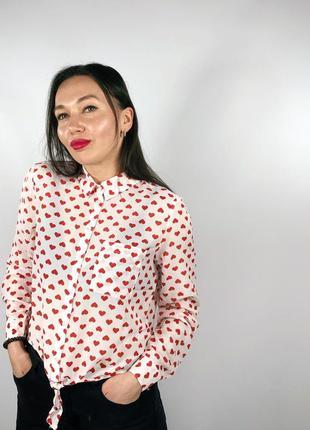 Рубашка в сердечки