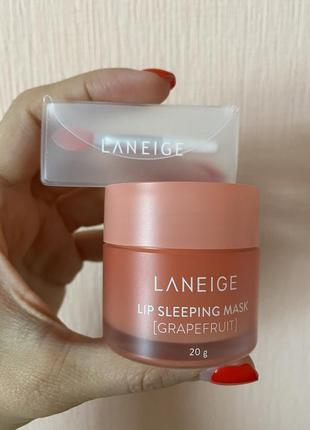 Laneige grapefruit ночная маска для губ 20 г
