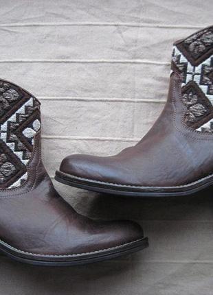 Сапоги, кожаные ботинки, демисезонные ботинки, ботинки из натуральной кожи