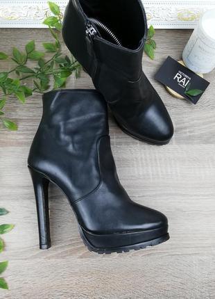 🌿39🌿европа🇪🇺 zara. кожа. стильные ботинки