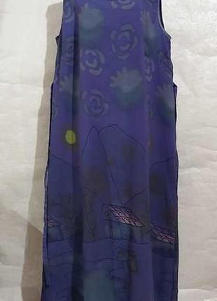 Новое стильное красочное платье в пол с пояском в оригинальный принт, размер 3хл