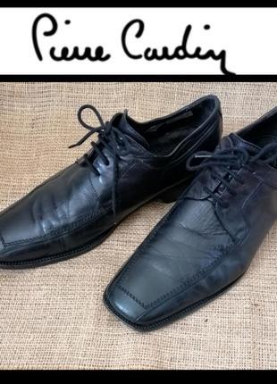 Мужские туфли, туфли дерби. pierre cardin.