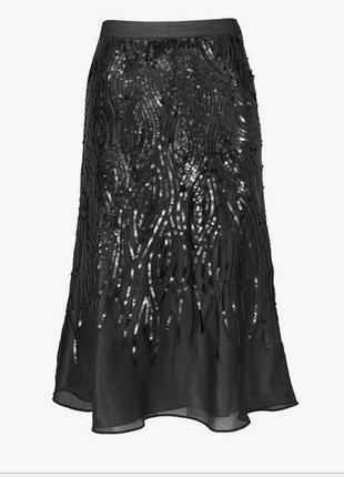 Шикарная фирменная нарядная юбка в пайетках planet