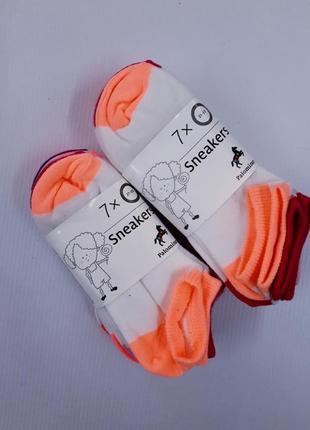 Яркие короткие детские носочки германия