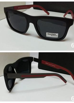 Мужские солнцезащитные очки matrix черные в матовой оправе линза с поляризацией