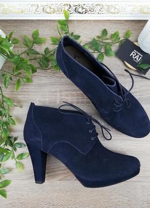 🌿41🌿европа🇪🇺 footglove. замша. красивые ботинки, ботильоны на устойчивом каблуке