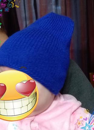 Актуальная шапка бини на малыша