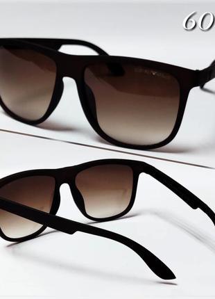 Мужские солнцезащитные очки armani коричневые в матовой оправе