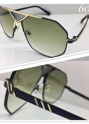 Очки солнцезащитные мужские maybach линзы зелёные градиент