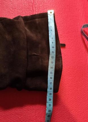 Демисезонное замшевые сапоги, сапоги на низком каблуке, ботфорты5 фото