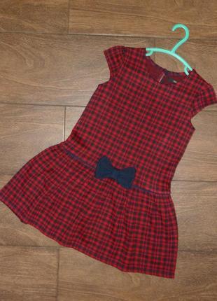 Платье в клетку george на 5-6 лет