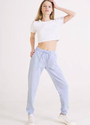 Небесно голубые штаны | джоггеры небесно-голубого цвета   colo