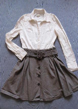 Dept шикарнейшее крутое платье рубашка юбка обманка плаття