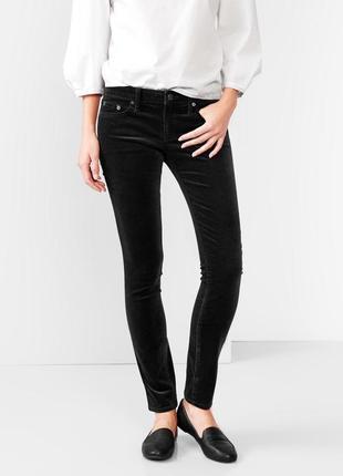 Вельветовые черные брюки gap