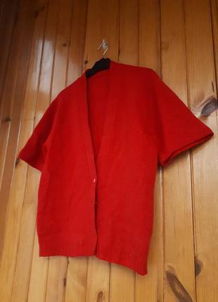 Базовая оверсайз кофта кардиган из шерсти винтаж