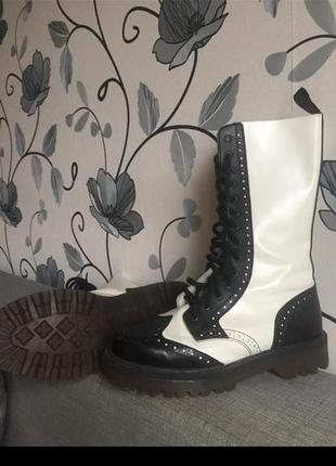 Невероятные ботинки nevermind!ботинки в стиле martens!мартенсы/броги/ботинки на шнуровке!