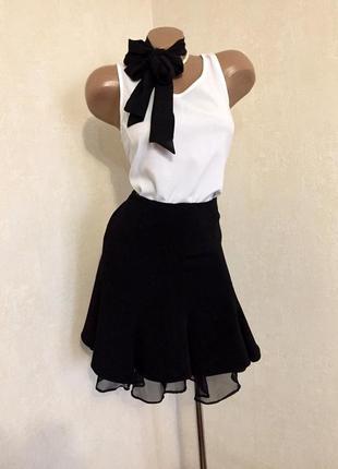👚классическая,базовая юбка с воланами,от karen millen👚2 фото