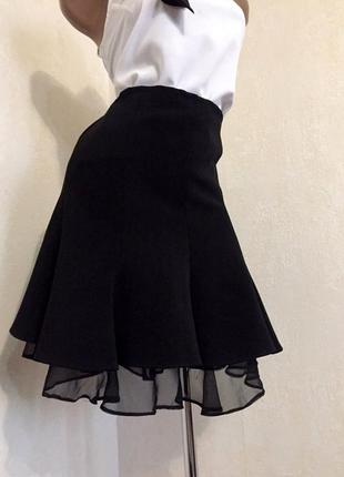 👚классическая,базовая юбка с воланами,от karen millen👚3 фото