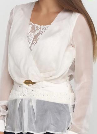 Роскошная блуза sassofono / s / натуральный шелк