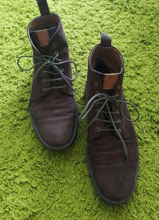 Стильні чоловічі коричневі черевики,туфлі з натуральної замші