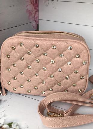 Модная женская розовая сумочка к.6334