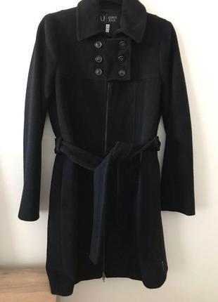 Пальто шерстяное armani jeans