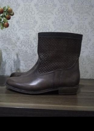 Деми ботинки (сапожки) из натуральной кожи