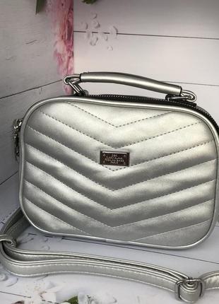 Стильная серебристая сумочка к.6340