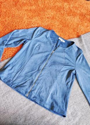 Куртка легкая из тонкой приятной замш
