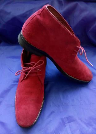 Ботинки-дерби мужские замшевые maddison 43 р 28,5 см цвет малиновый
