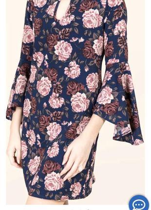 Платье в цветы тренд 20202 фото