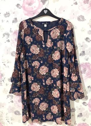 Платье в цветы тренд 20204 фото
