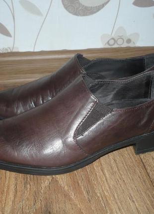 Мегаудобные кожаные туфли walder, р.38
