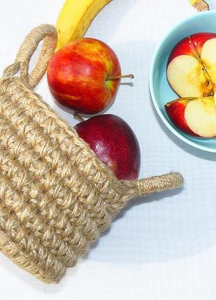 Кошик плетений з джуту 15х11(18) корзинка из джута