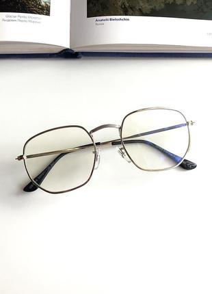 Компьютерные прозрачные имиджевые очки для компьютера, окуляри для пк антиблик