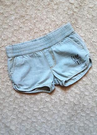 Zeeman джинсовые короткие тонкие легкие светлые голубые шорты 2-3 года