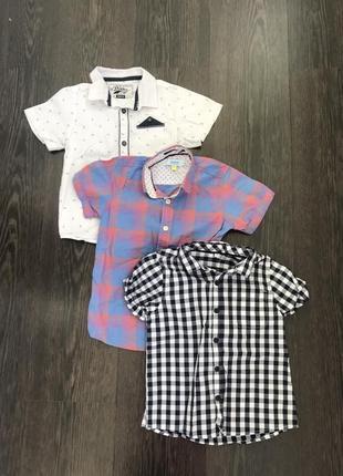 Рубашка шведка для мальчика next 4-5 лет