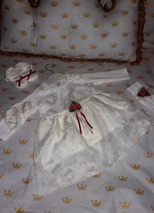 Набор на крестины🌷 ( платье )🌷 для малышки🌷🌷🌷